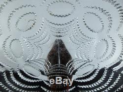 Ancienne Tres Grand Plat En Cristal Moule Taille Rene Lalique Signe