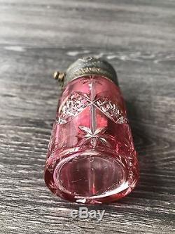 Ancienne Vaporisateur En Cristal De Baccarat XIXe