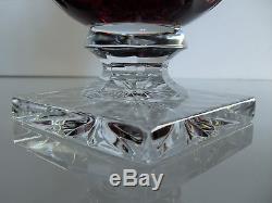 Ancienne Vase En Cristal Couleur Double Couche Taille St Louis