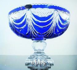 Ancienne XXL Coupe Fruit Centre De Table Cristal Couleur Dgerald Lorraine Signe