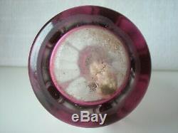 Ancienne belle lampe Berger en cristal taillé Saint-Louis