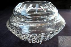 Ancienne boite à coton ou bonbonnière en cristal de baccarat
