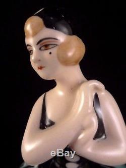 Ancienne bonbonnière Colombine céramique LIANE Henri Delcourt France Années 20