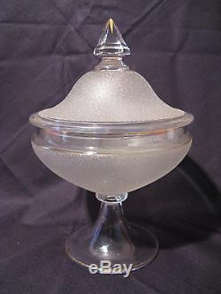 Ancienne bonbonnière drageoir cristal XIX Baccarat. Saint Louis