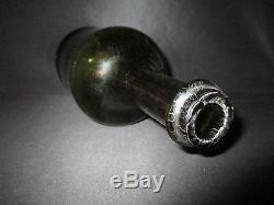 Ancienne bouteille en verre soufflé champagne fin XVIII ème début XIX ème