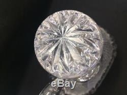 Ancienne carafe et bouchon en cristal St. Louis, modèle Tommy crée en 1928