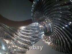 Ancienne coupe piedouche cristal Baccarat bambou tors parfait état