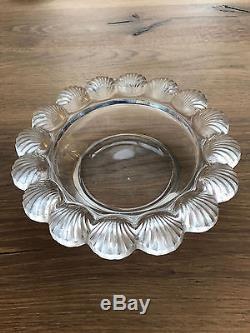 Ancienne coupe vide poche cristal art deco signé LALIQUE