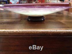 Ancienne & exeptionelle Coupe pate de verre signé andre DELATTE à Nancy 30 cm