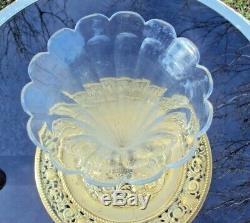 Ancienne jolie coupe vase centre de table pied en bronze et vase en cristal