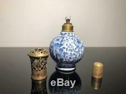 Ancienne lampe Berger Paul Bocquillon. Décor Delft. Lamp. Signée Berger Paris