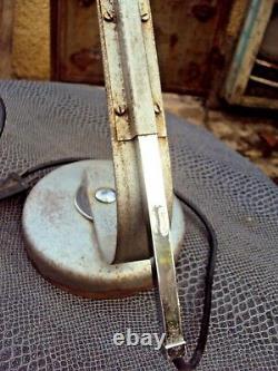 Ancienne lampe articulée industrielle d'atelier marque solère paris