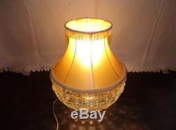 Ancienne lampe cristal Baccarat pointes de diamant