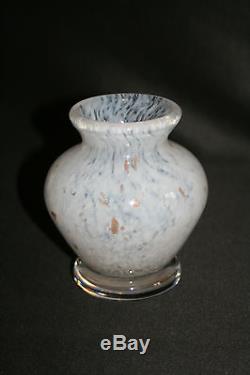 Ancienne paire de vase Daum Nancy milieu XX ème