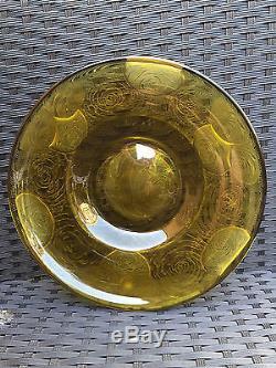 Ancienne rare & superbe coupe a fruit degagé a l'acide signé Montjoye Art deco