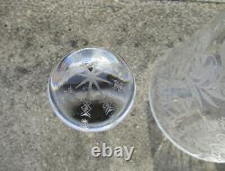 Ancienne superbe carafe en cristal de Baccarat modèle Argentina très bon état