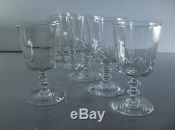 Anciennes 12 Verres A Pied En Cristal Taille Baccarat Avant 1936