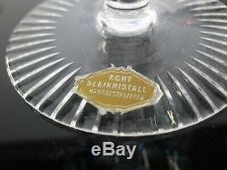 Anciennes 6 Coupes A Champagne Cristal Double Couleur Modelé Paris Bohème
