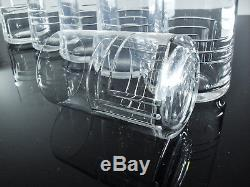 Anciennes 6 Gobelets En Cristal Taille St Louis Signe Art Deco