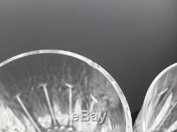 Anciennes 6 Gobelets Verres A Eau Cristal Taille Tommy St Louis
