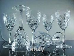 Anciennes 6 Verres A Eau Vin En Cristal Taille Modele Chantilly St Louis Signee