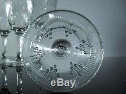 Anciennes 6 Verres A Vin Blanc Cristal Modele Molière Baccarat Avant 1936