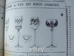 Anciennes 6 Verres A Vin Cristal Couleur Berncastel Val St Lambert Signe