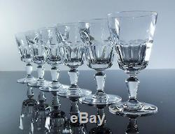 Anciennes 6 Verres A Vin Cristal Massif Taille Bretagne Baccarat Signe