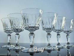 Anciennes 6 Verres A Vin Cristal Taille Modelé Piccadilly Baccarat Signe