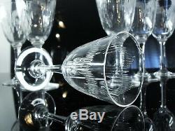Anciennes 6 Verres A Vin En Cristal Taille Molière Baccarat Avant 1936