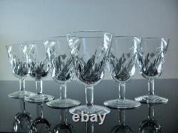 Anciennes 6 Verres A Vin Porto En Cristal Modele Bidassoi Taille St Louis Signe