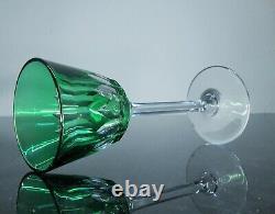 Anciennes 6 Verres Vin Cristal Couleur Taille Modele Cote D'azur Baccarat Signe