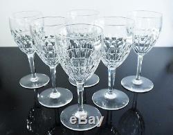 Anciennes Grand 6 Verres A Eau Vin Cristal Taille Durance St Louis