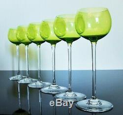Anciennes Grand 6 Verres A Vin Cristal Couleur Perfection Baccarat Signe