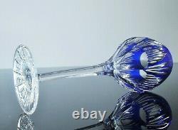 Anciennes Grand 6 Verres A Vin En Cristal Double Couleur Taille Souffle Boheme