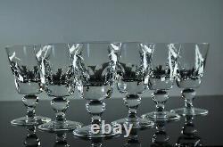 Anciennes Grand 6 Verres A Vin En Cristal Taille Modelé Jersey St Louis Signe