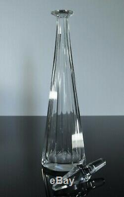 Art Déco Ancienne Grand Carafe Cristal Taille Modelé Pyramid Baccarat 1916