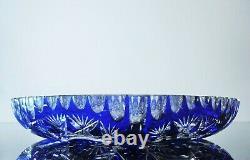 Art Déco Ancienne Grand Plat Creux En Cristal Couleur Taille Arnstad Boheme