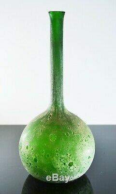 Art Nouveau Ancienne Vase Pte De Verre Dégagé L'acide Daum Legras Luneville