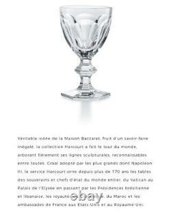 BACCARAT Modèle HARCOURT 5 Magnifiques Anciens Verres à Vin Blanc Cristal Taillé