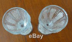 BACCARAT. Verres Anciens Cristal Modèle MARABOUT 1833. MARABOUT Vintage Glasses