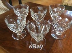 Baccarat 6 verres anciens cristal taillé Baccarat modèle Talleyrand signé h7,7