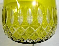 Baccarat Ancien Verre Cristal Couleur Jaune Hauteur 20 CM (estampille Baccarat)