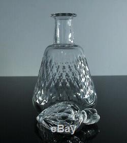 Baccarat / Ancienne Carafe Whisky En Cristal Massif Taille Modelé Paris Signe