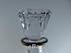 Baccarat / Ancienne Carafe Whisky En Cristal Massif Taille Signe