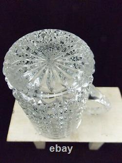 Baccarat Ancienne Cruche En Cristal Moulé-diamants Pierreries-pontarlier