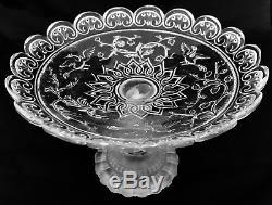 Baccarat / Coupe Sur Pied Dauphin Modéle Renaissance Ancienne XIX Éme Siécle