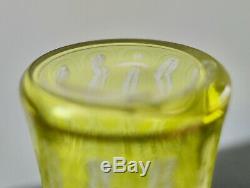 Baccarat Superbe Vase Ancien Art Nouveau Degage A L'acide Antique Cameo Glass
