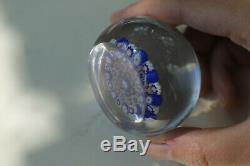 Belle boule miniature presse papier ancien Baccarat XIX no Clichy Saint Louis