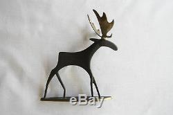 Bronze de Vienne ancien art déco signé Hagenauer cerf élan